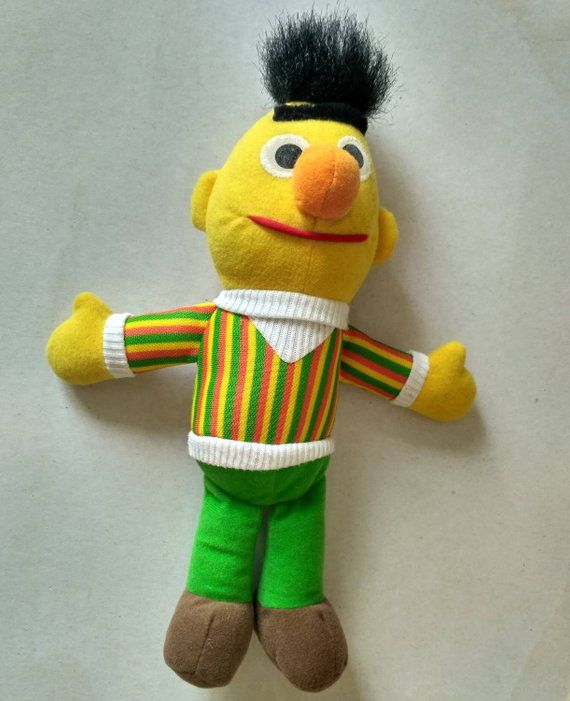 Vintage toy Bert Knickerbocker Stuffed Doll Sesame Street