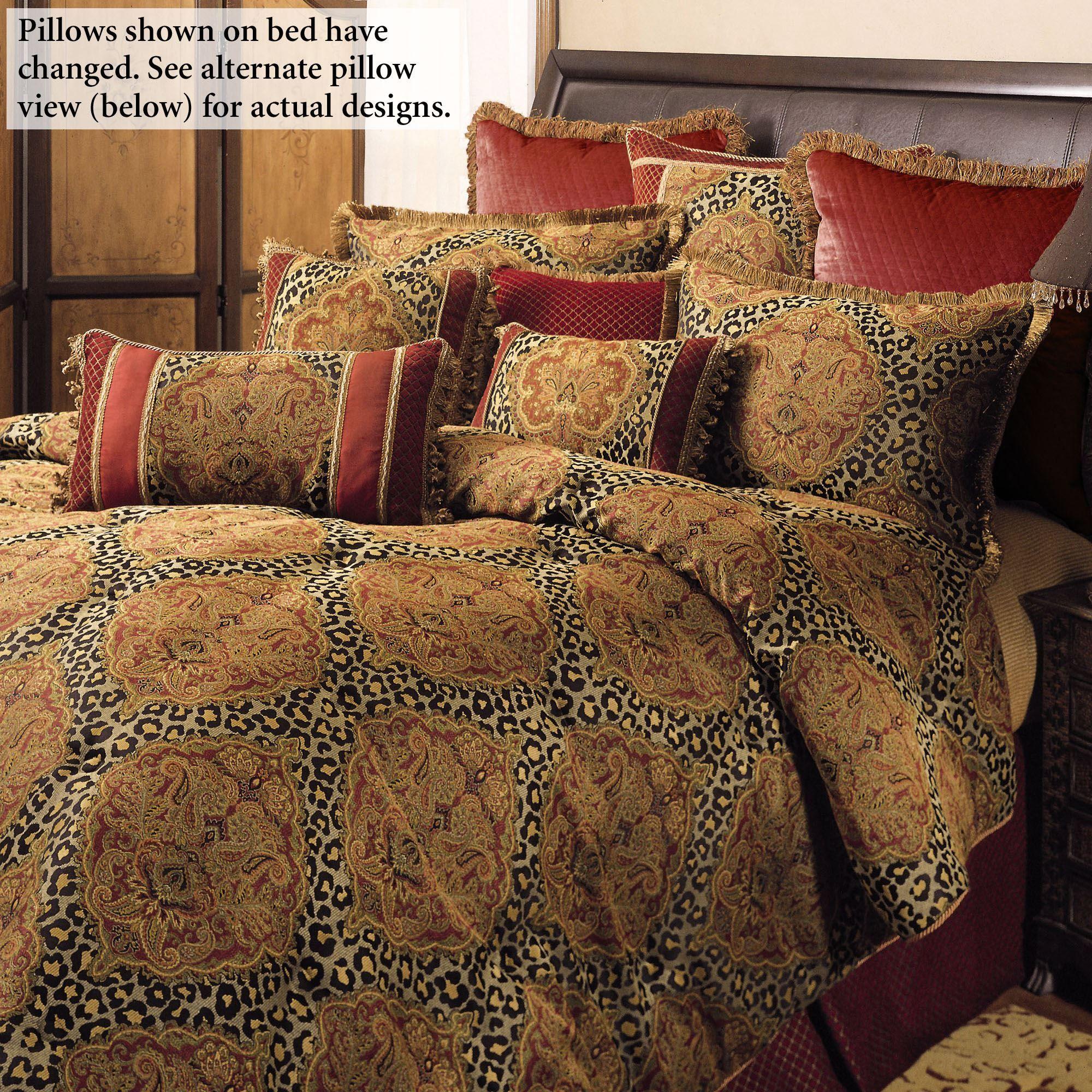 temara damask leopard print forter bedding