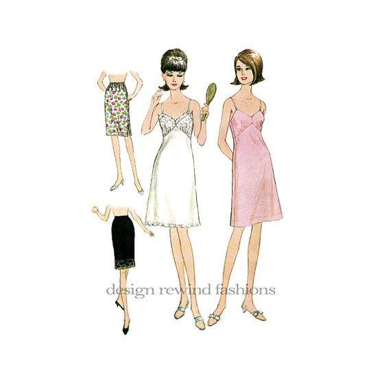 WOMENS SLIP PATTERN Half Slips Bra Slips High-Waist Lace Bodice Full ...