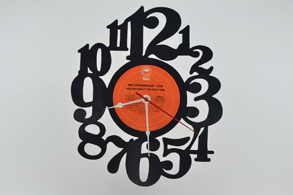 Vinyl Record Clock artist is REO Speedwagon by vinylclockwork, $23.00