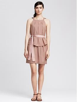 Heritage Poplin Ruffle Dress | Banana Republic