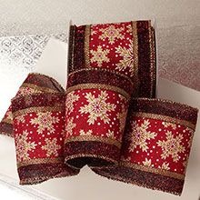 Red Snowflakes | Wired ribbon, Wholesale packaging ...