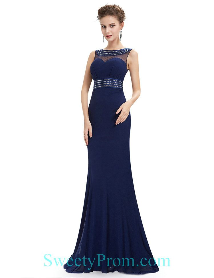 Beaded Illusion Navy Affordable Evening Dresses,Beaded Illusion Navy ...