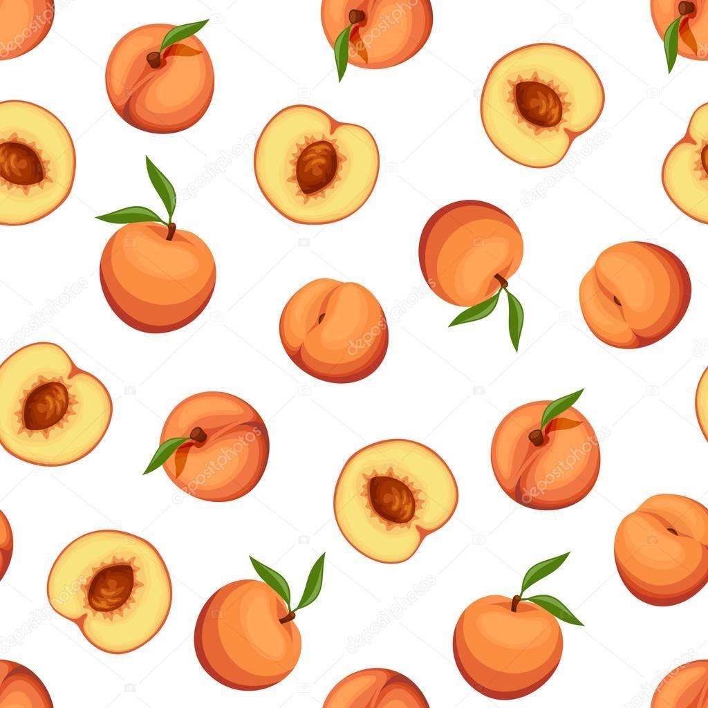 Fondo Transparente Con Melocotones Ilustracion Vectorial Vector De Stock Fondos De Frutas Dibujos De Frutas Fondo De Pantalla Iphone Disney