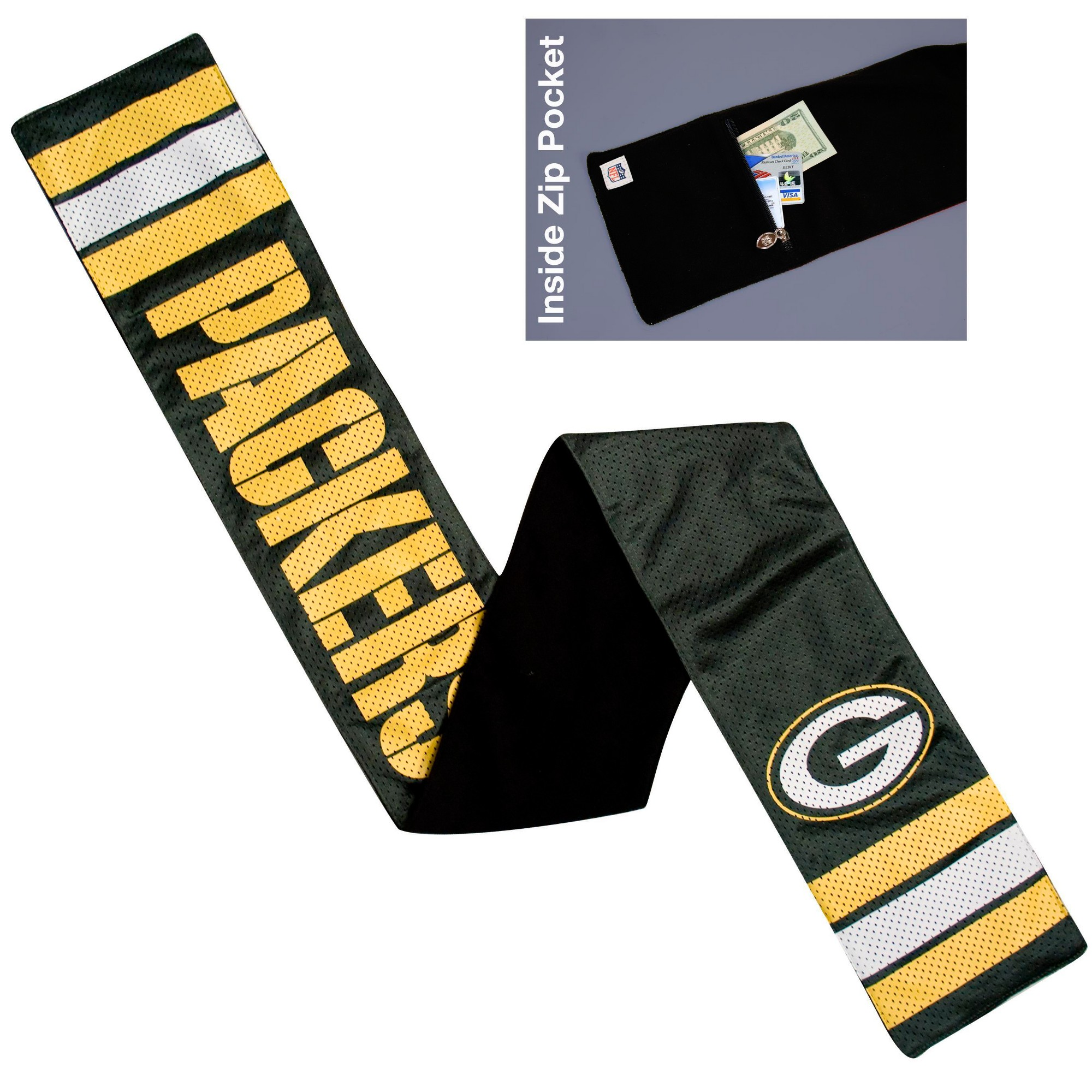 b6342a8c2 NFL Green Bay Packers Jersey Scarf