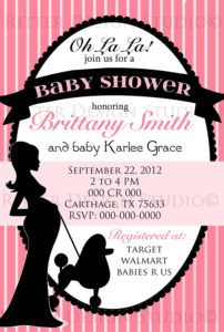 Paris Themed Baby Shower Invitations Templates | http://serotea.com ...