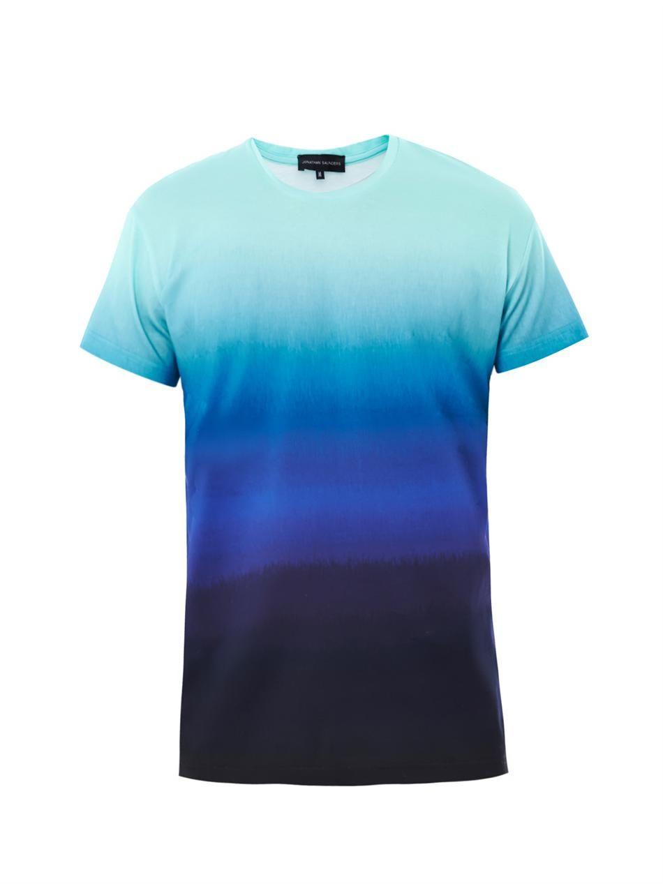 01f2c7c83bcb Men's Blue Ombré Print T-shirt   Switch tour look and feel ...