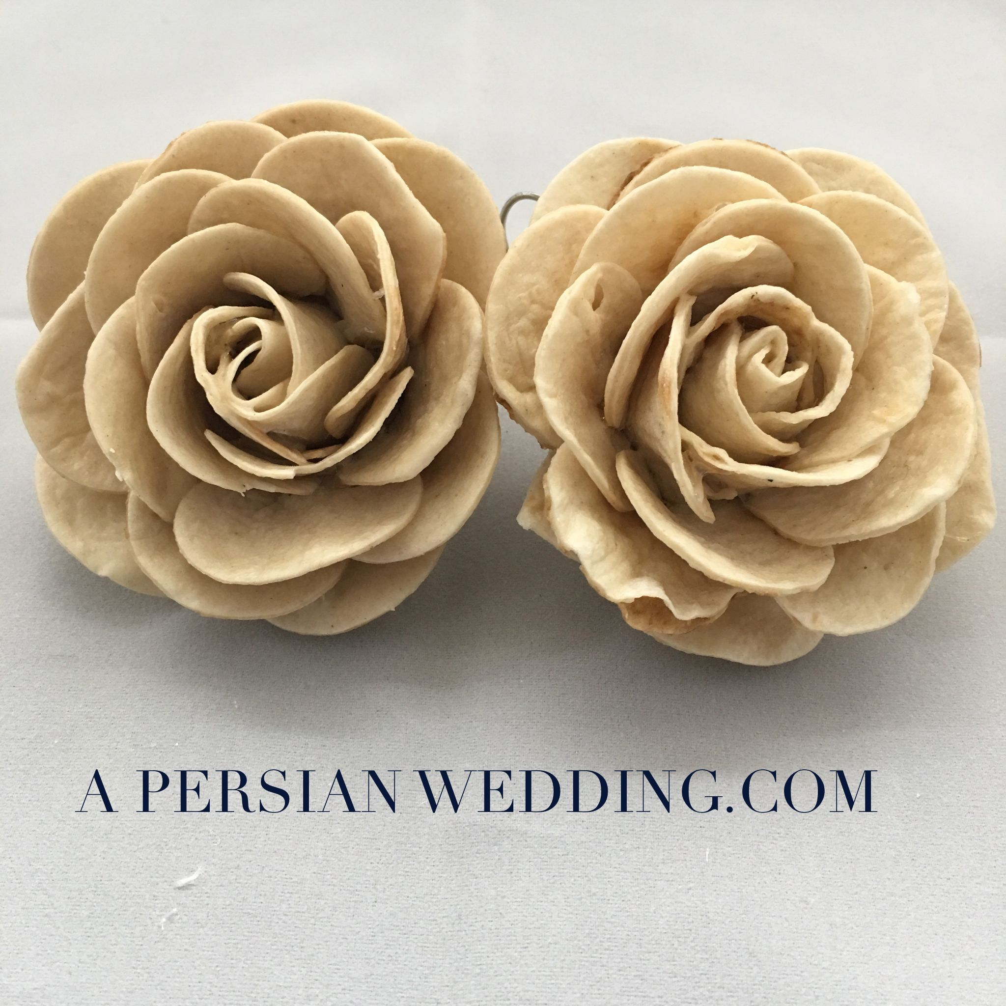 Bread Flowers for A Persian Wedding Table Sofreh Aghd