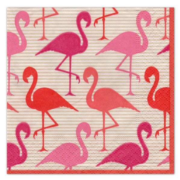 Flamingo Strut Cocktail Napkins | PaperStyle