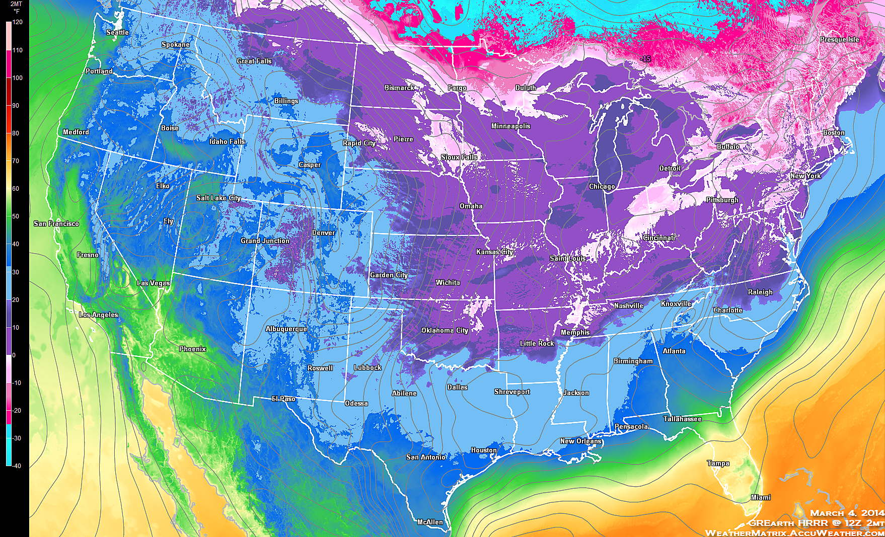 Coldest March Everthe Hrrr Model Estimated That 33 States Were Below Zero This Morning See Above With That Backed Up Centre County Weather Map Starry Night
