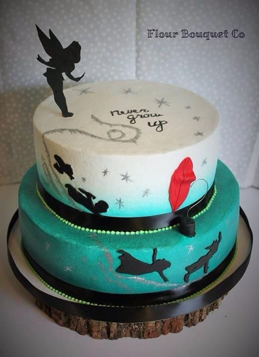 Awe Inspiring The Flour Bouquet Co Cake Gallery Peterpan Cake With Images Personalised Birthday Cards Beptaeletsinfo