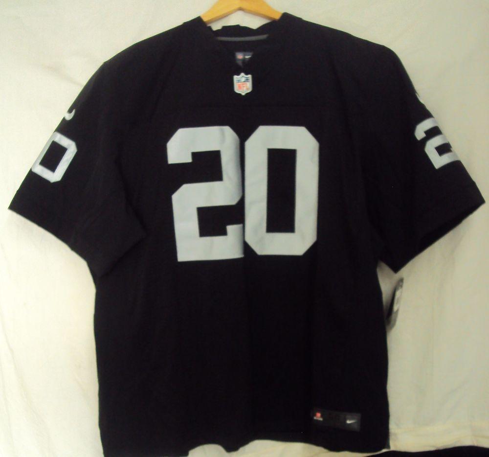 5f4407d27 Oakland Raiders McFadden 20 Black Silver Jersey 48 XL NFL Men ...