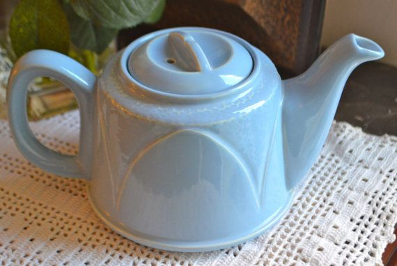 Blue Art Deco Teapot Vintage Light Blue Teapot Art Deco Style Stamped Made In England Tea Pots Art Art Deco Teapot Tea Pots Vintage