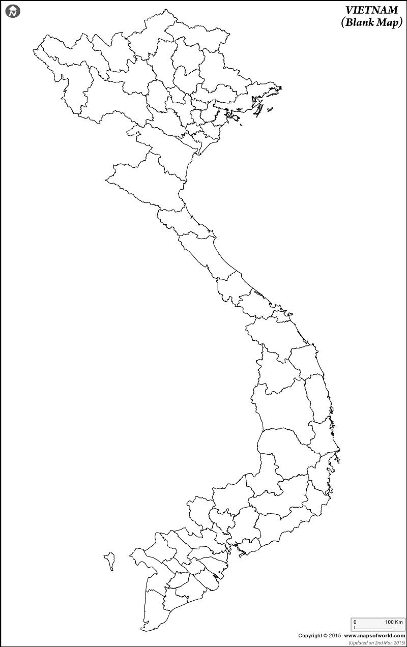 Vietnam Blank Map | old architect | Việt nam