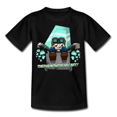 TDM T-Shirt Kids The Diamond Mine Funny Minecart Diamondcart Dan Boys Girls