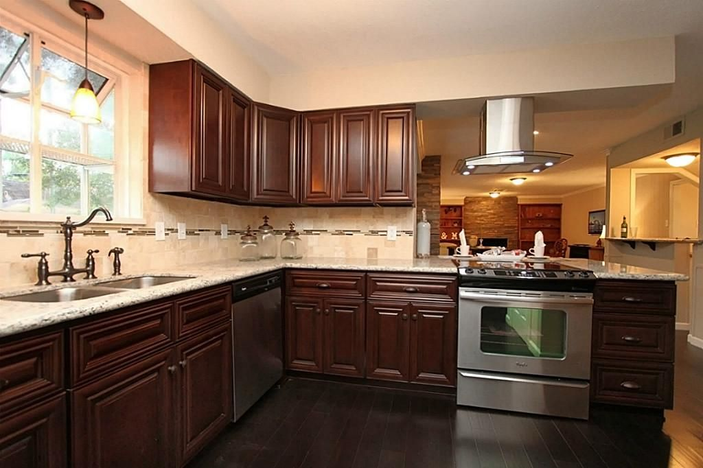 KITCHEN: High end solid wood cabinets with lazy Suzanne as well as ...