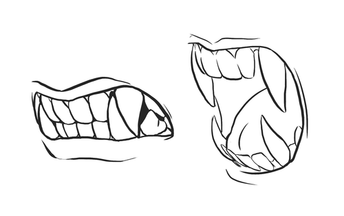 How To Draw Sharp Teeth And Have Them Make Sense Teeth Drawing Mouth Drawing Drawings