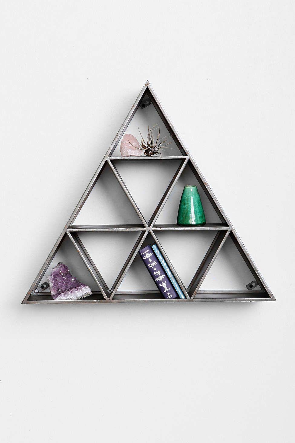 Geo Triangle Shelf | Metall und Zuhause