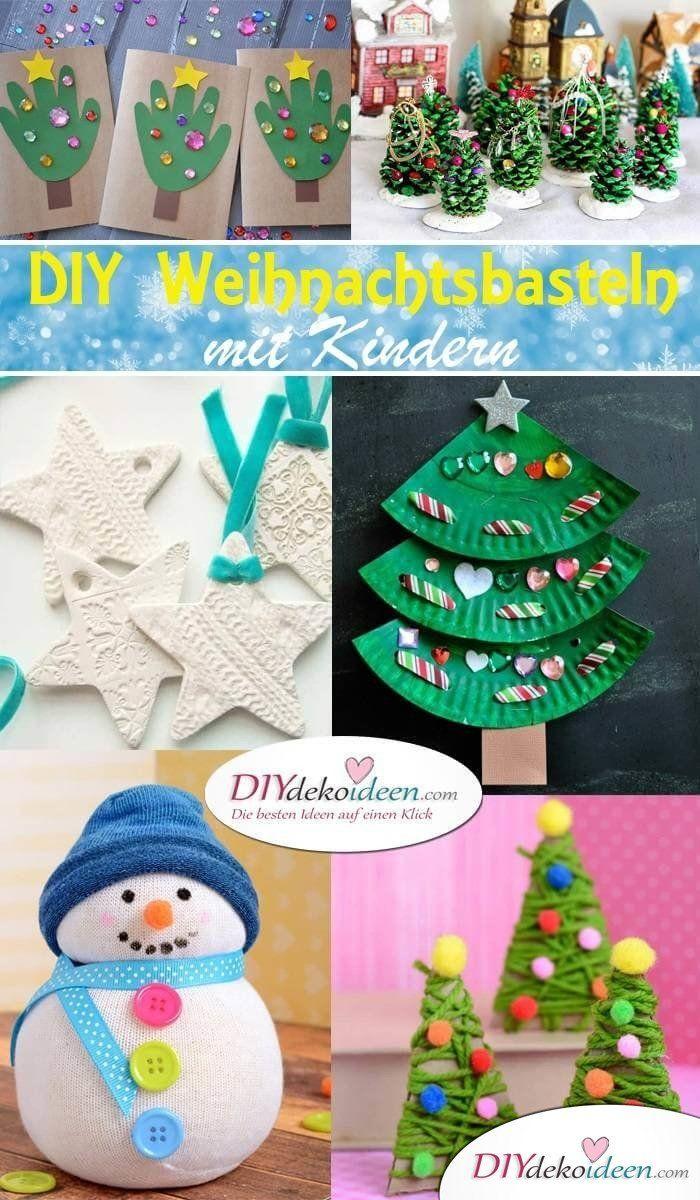 Kreative DIY Bastelideen für Weihnachtsbasteln mit Kindern #juledekorationideerdiy