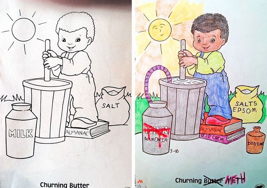 Funny Children Coloring Book Corruptions 8