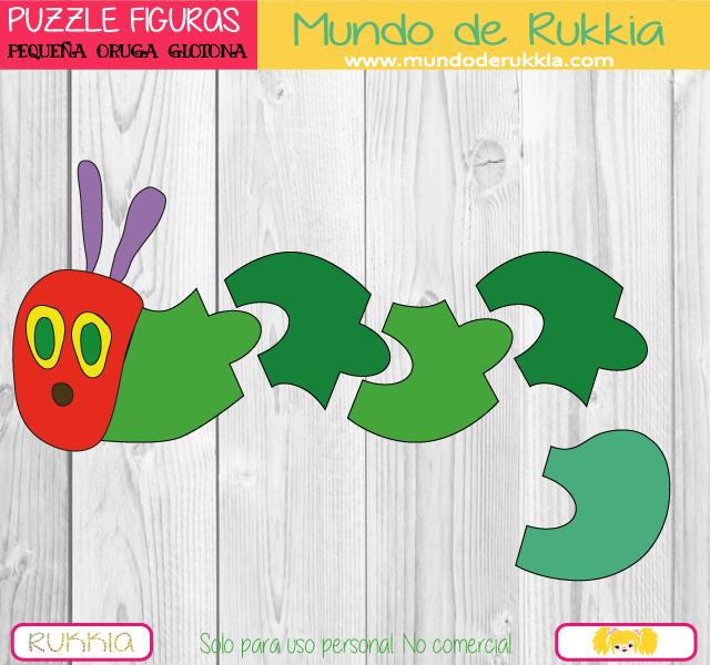 Puzzles Geométricos de la Pequeña Oruga Glotona | Oruga, Puzzles ...