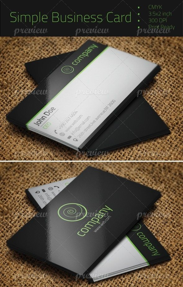 Simple Business Card | Print | Pinterest | Simple business cards ...