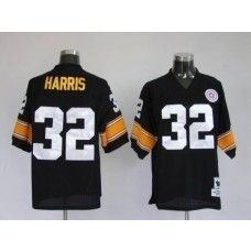 86743399a Mitchell   Ness Steelers  32 Franco Harris Black Stitched Throwback NFL  Jersey