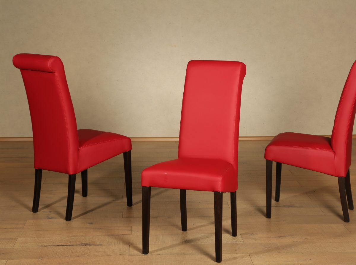 Küchenstuhl rot ~ Home affaire polster stuhl rot silas« pflegeleichtes kunstleder