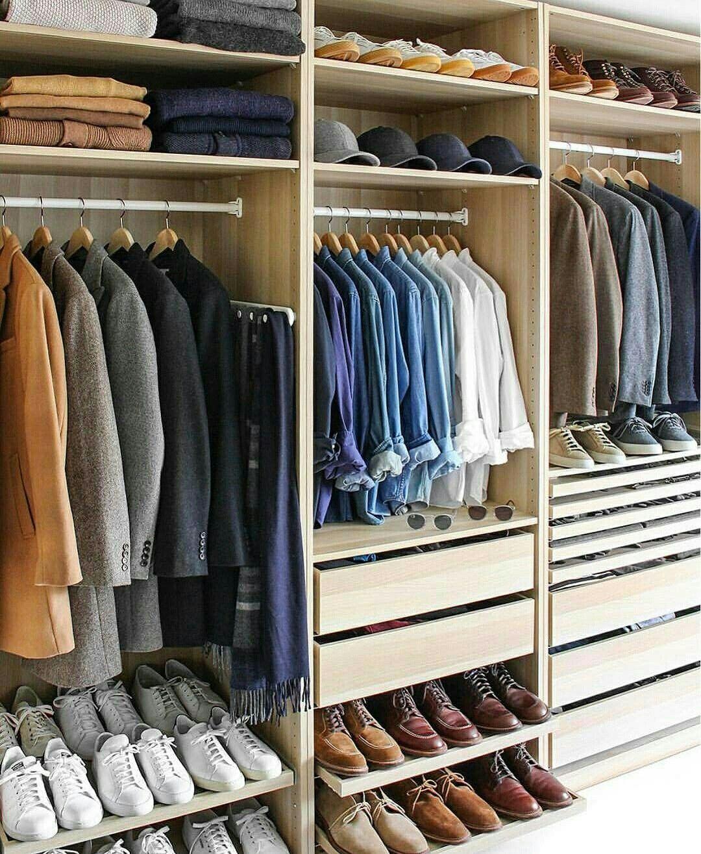 Capsule Wardrobe For Men Ebook Men Closet Closet Designs