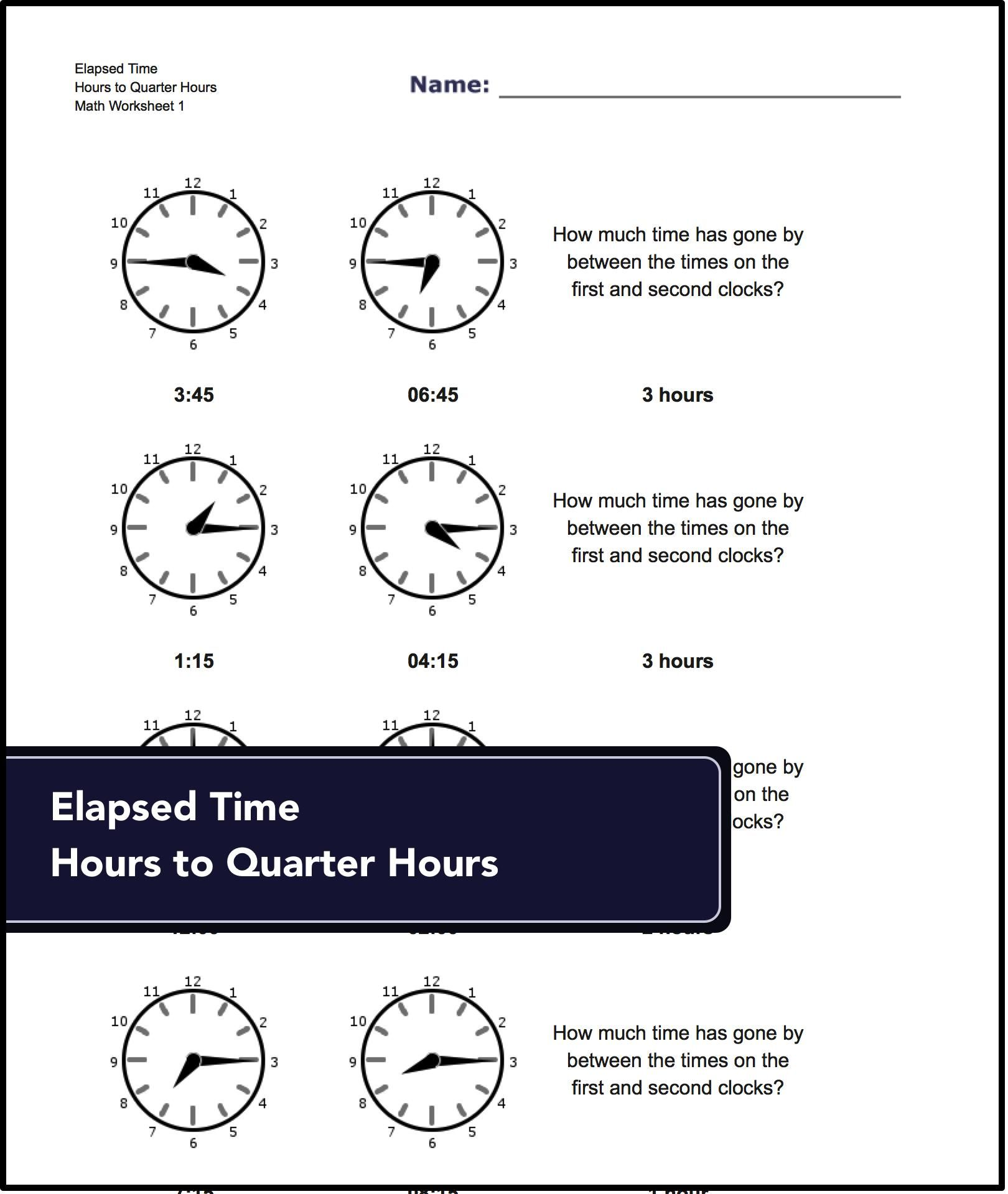 Og Elapsed Time Worksheets