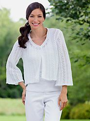 Crocheted Cardigan at the Vermont Country Store $39.95 to 44.95