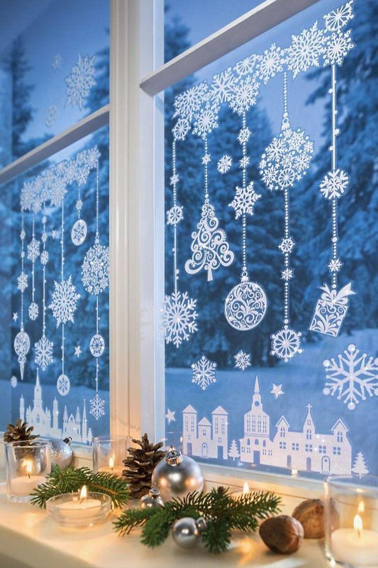 Fenstersticker Winterzeit