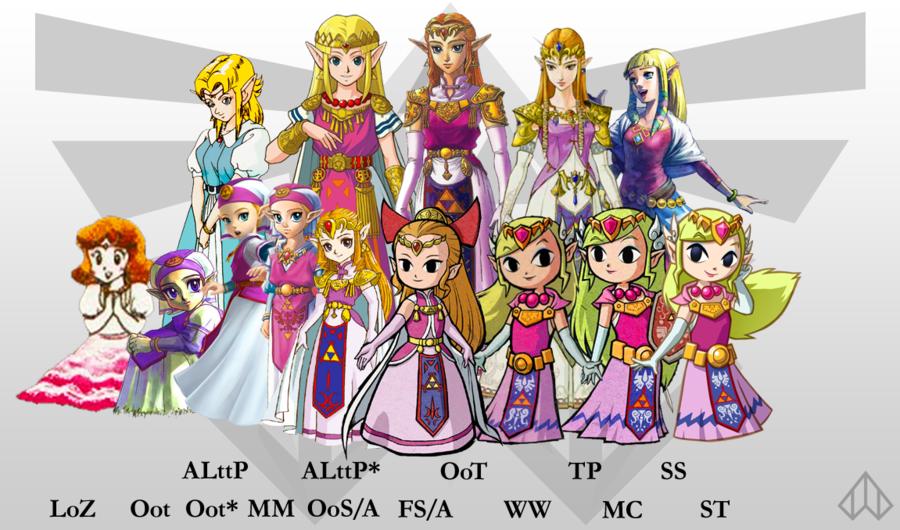 Zelda Gone Through Many Different Looks Legend Of Zelda