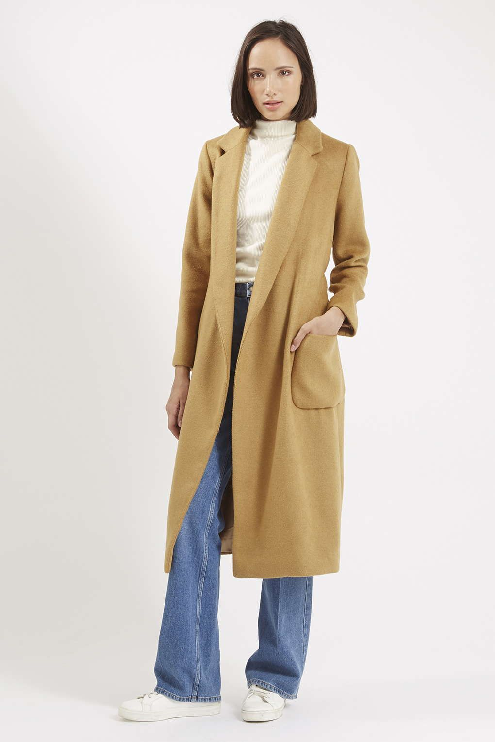 Belted Wool Blend Coat - Coats - Clothing - Topshop | flared jeans ...