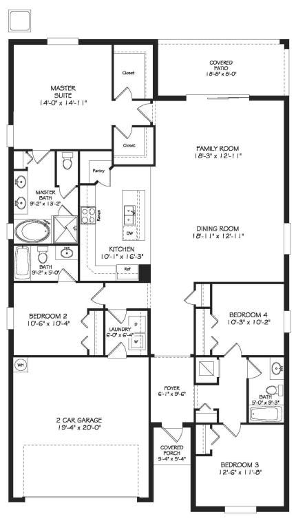 Beautiful hamilton floor plan with open space of 2 032 for Condo plans with garage