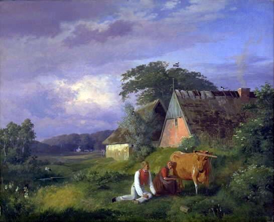 Lundbye - Malkescene - 1841