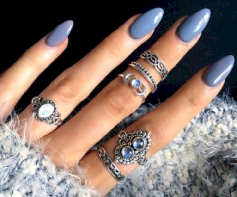 Most Popular Nail Colors Winter 2019 30 Nail Colors Winter Popular Nail Colors Almond Nails Designs