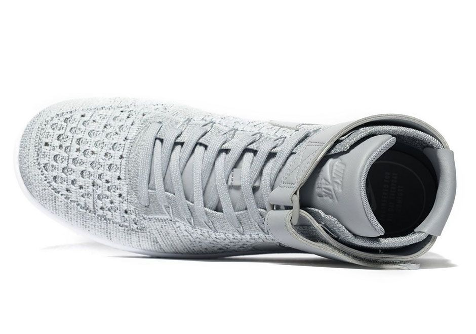 Nike Air Force 1 Mid Flyknit Heather Grey | SneakerNews.com