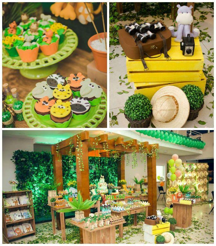 Jungle Safari Birthday Party via Karas Party Ideas KarasPartyIdeas ...