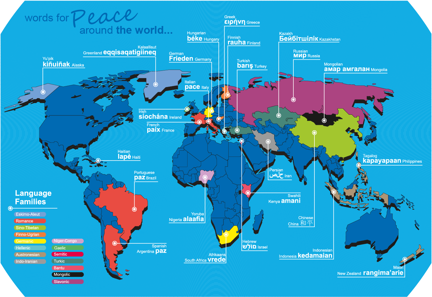 This infographic shows a selection of translations for peace in this infographic shows a selection of translations for peace in other languages and traces which publicscrutiny Gallery
