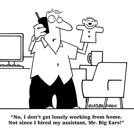 Funny Cartoon For The Self Employed Working From Home Funny Cartoons About Work Legit Work From Home