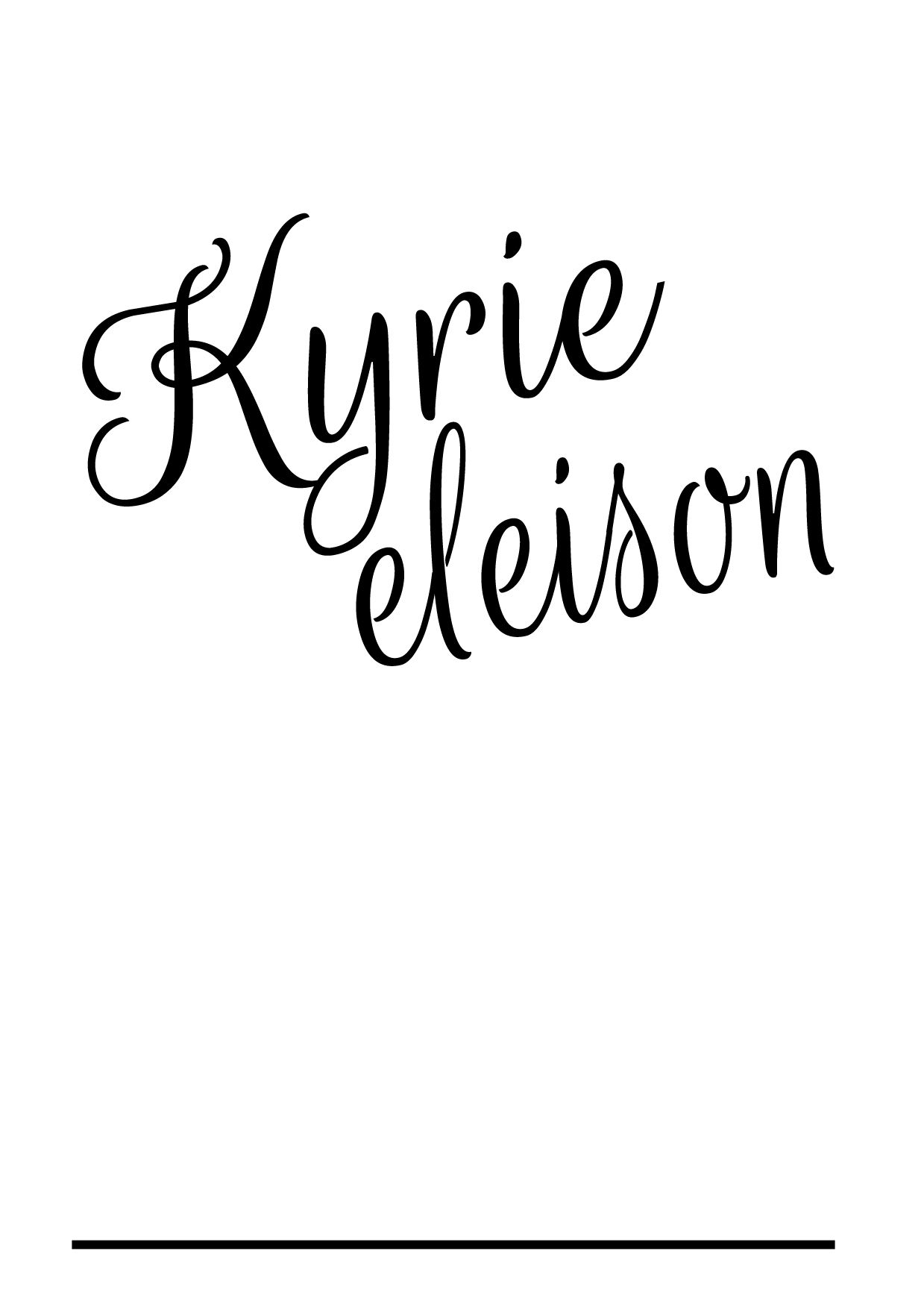 Kyrie eleison (Greek)- Lord, have mercy | awesome | Kyrie irving