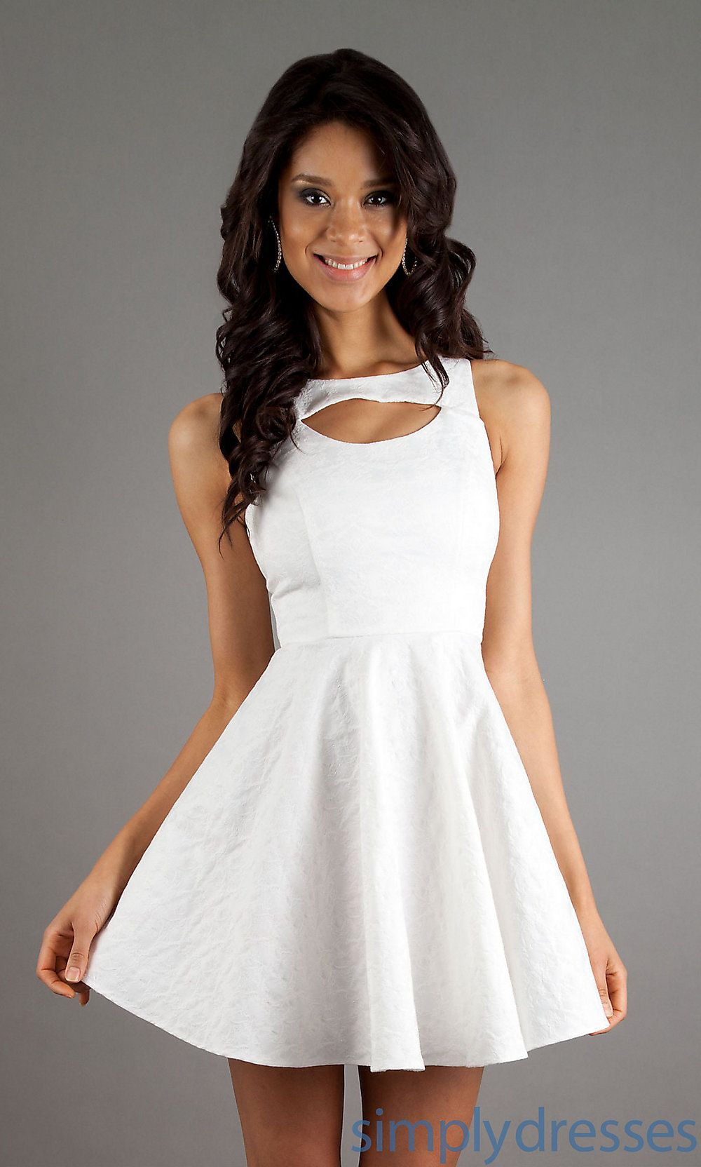 XO-6433JQB3 - Short Ivory-White Casual Dress | Receptions, Bridal ...
