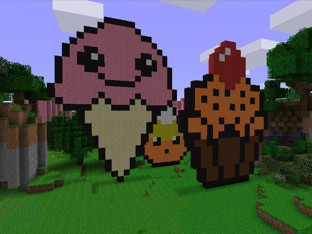 Minecraft Candy | Ice Cream Cone, Candy Corn, Halloween Cupcake! :)