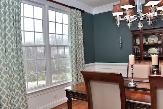 Benjamin Moore Knoxville Gray On Walls Dining Room