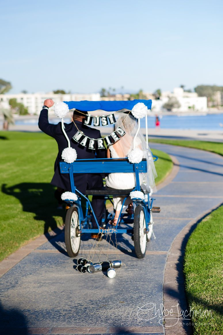 Just-Married Pedal Cart | Chloe Jackman Photography