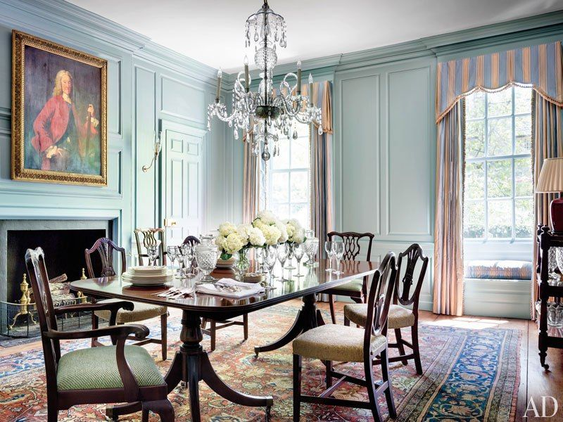 Beautiful Blue Wall Color In A Historic DC Dining Room Blues
