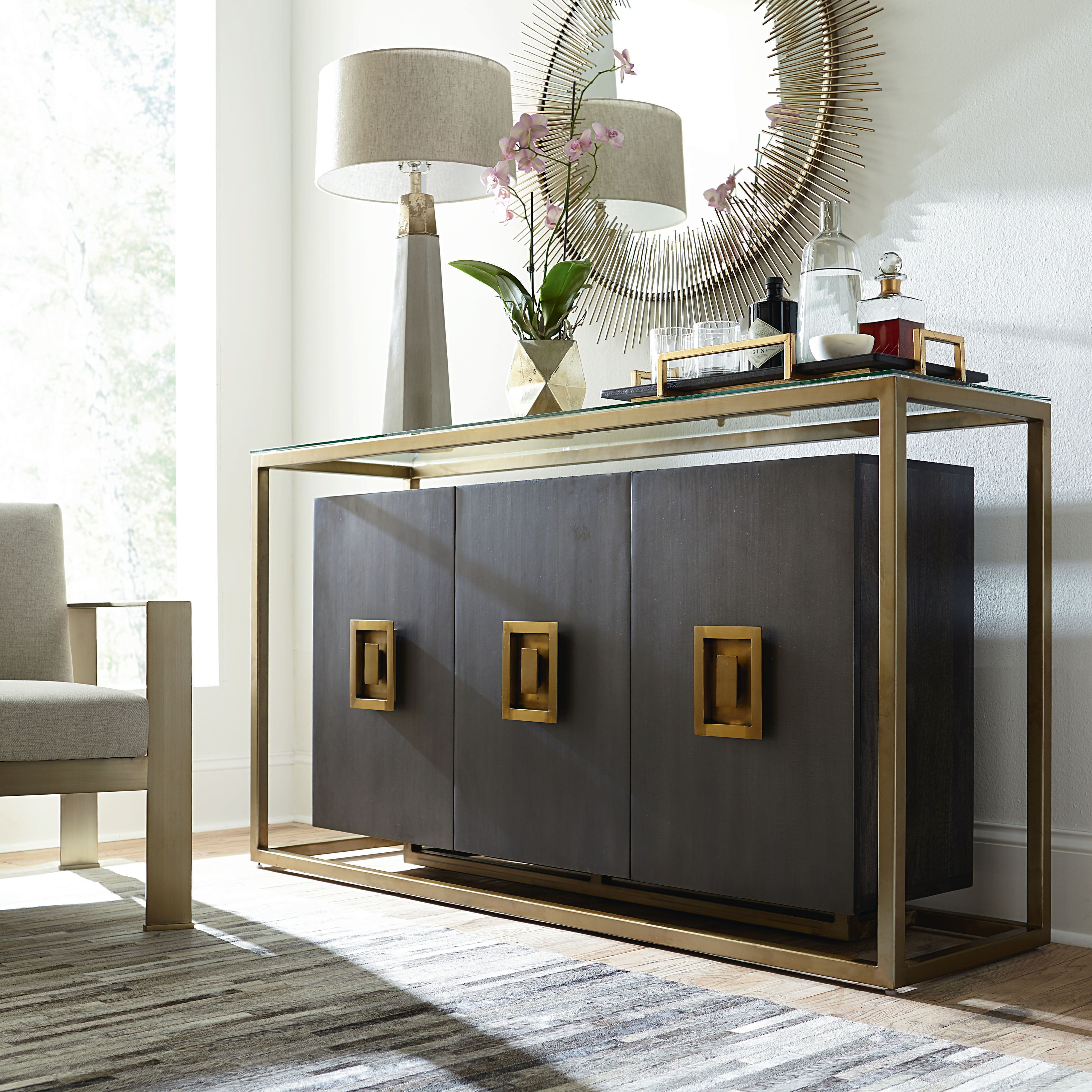 Soho Cabinet With Glass Entertainment And Media Furniture