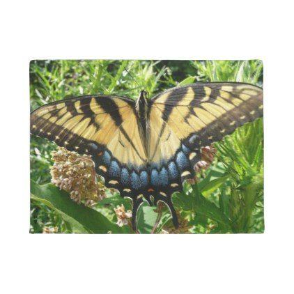 #Swallowtail Butterfly II on Milkweed at Shenandoah Doormat - #doormats #home u0026 #  sc 1 st  Pinterest & Swallowtail Butterfly II on Milkweed at Shenandoah Doormat ...