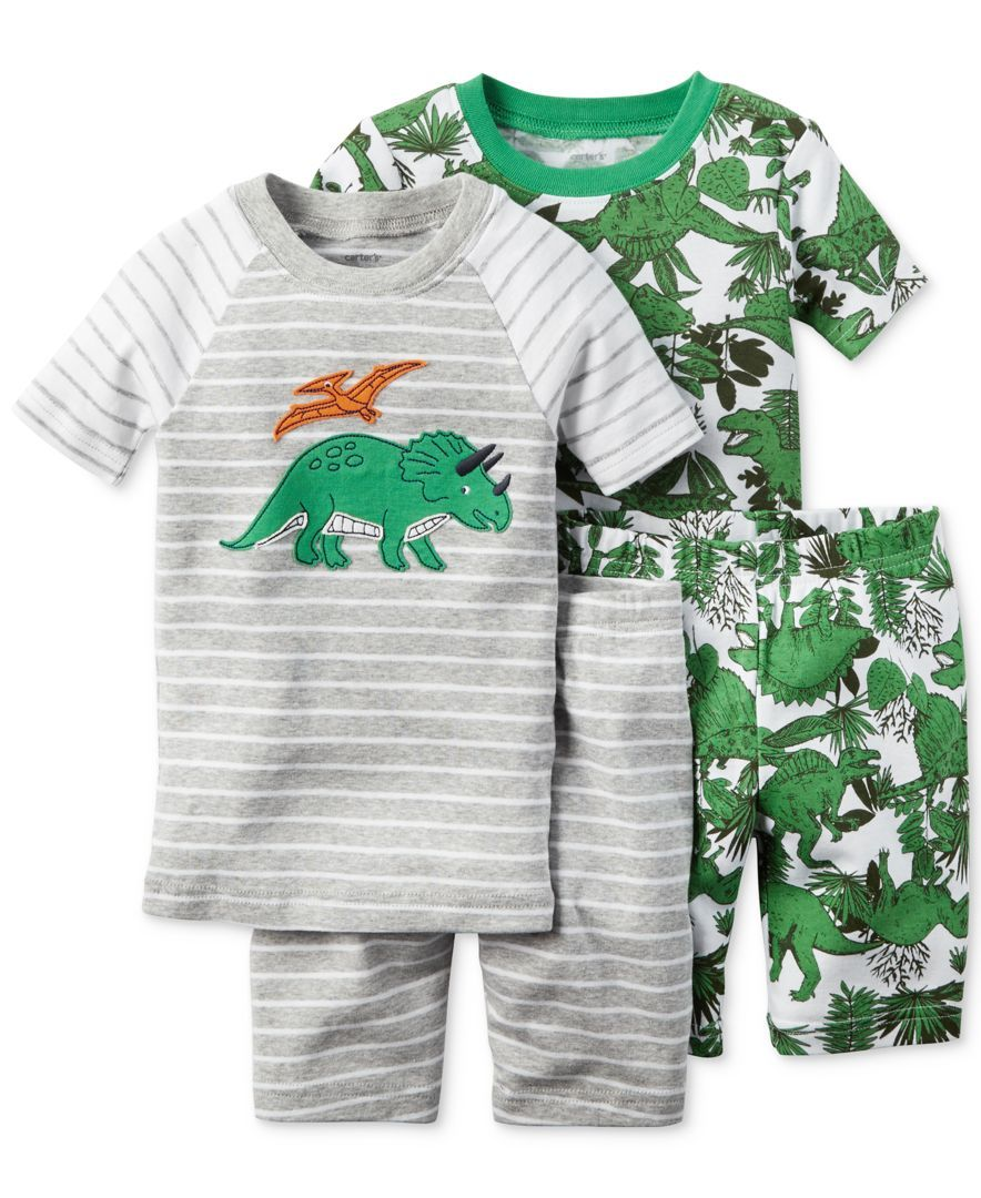 a5e87b1b4 Carter s Toddler Boys  4-Piece Dinosaur Pajama Set